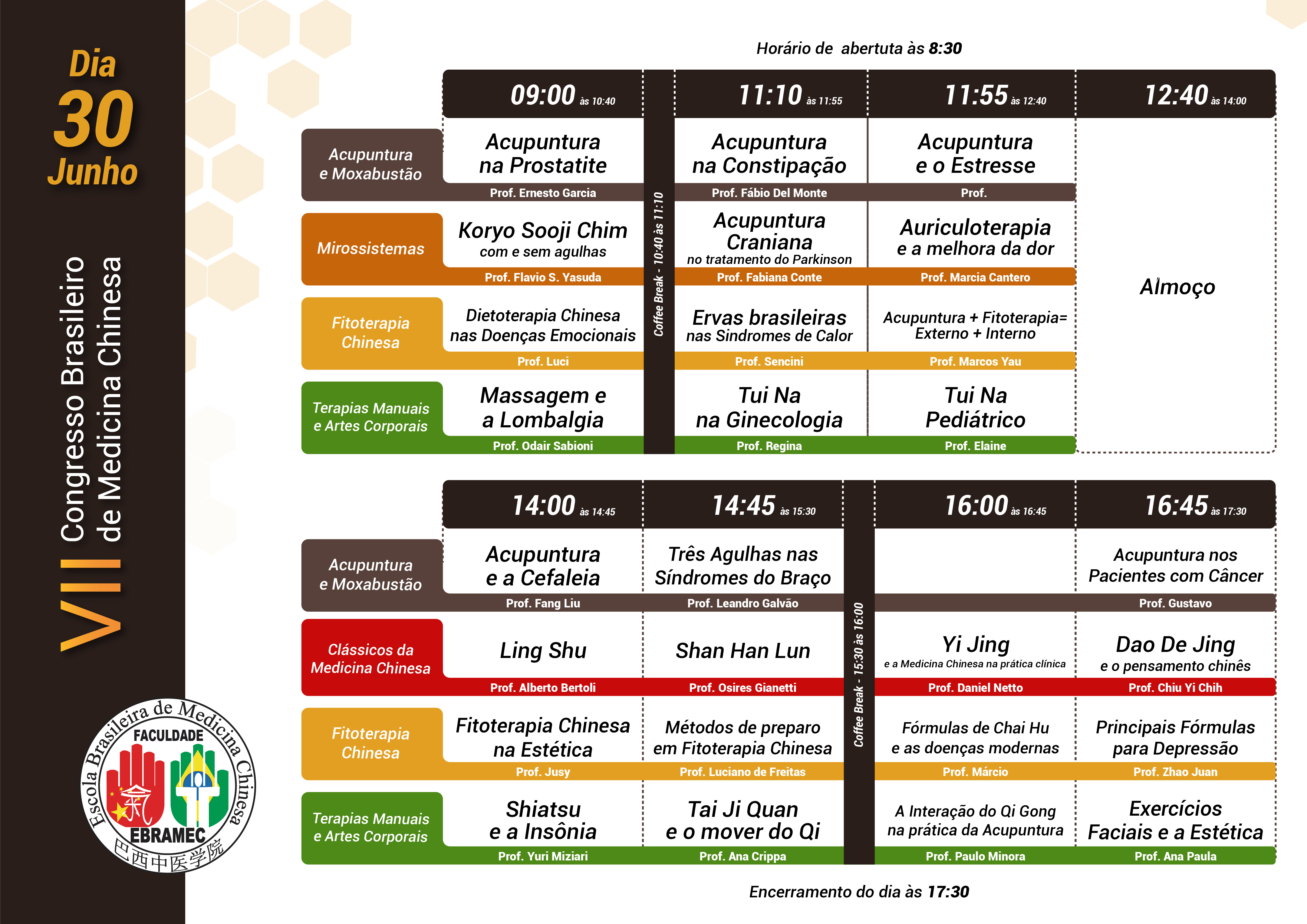 VII Congresso Brasileiro de Medicina Chinesa | Dia 1