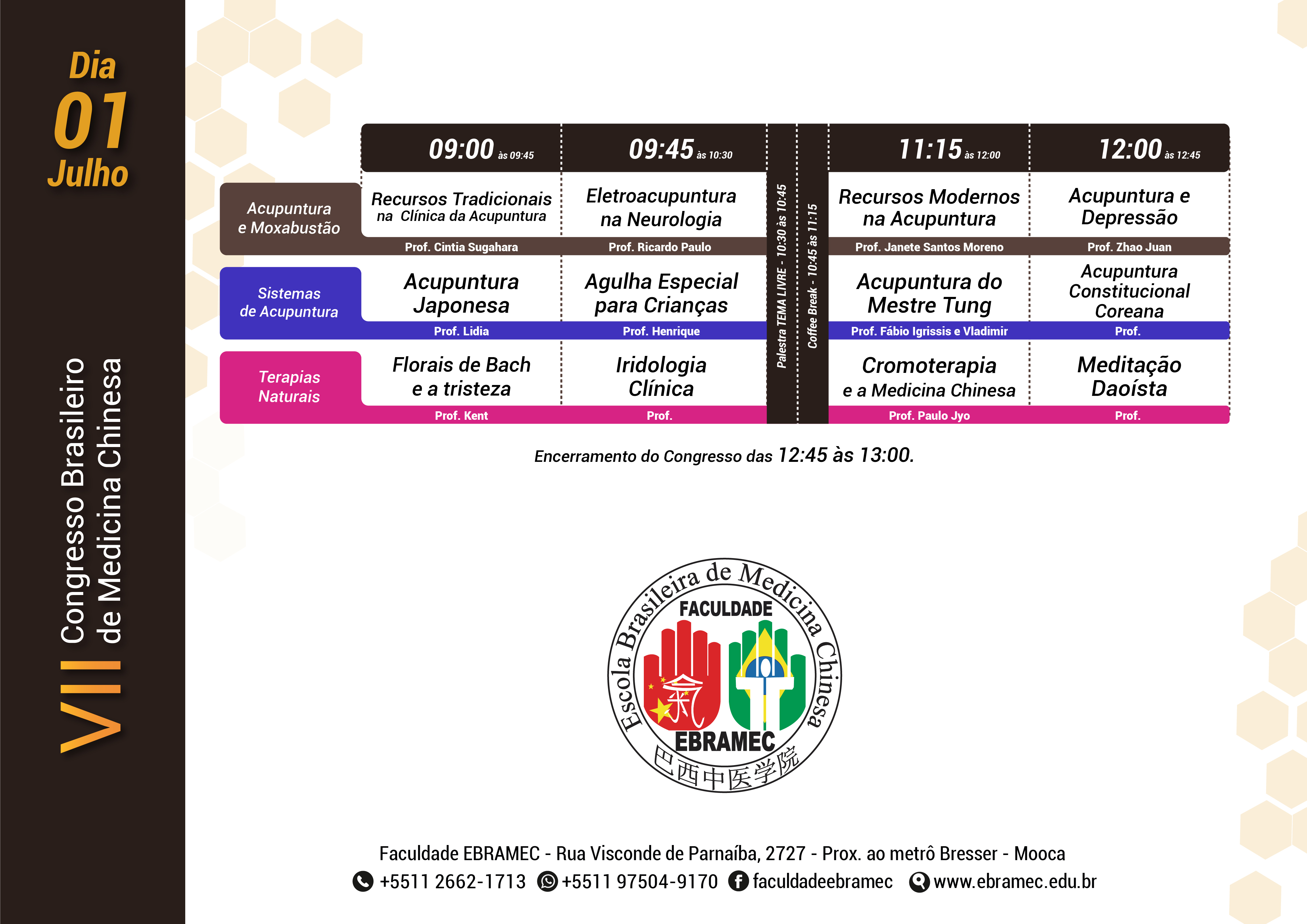 VII Congresso Brasileiro de Medicina Chinesa | Dia 2