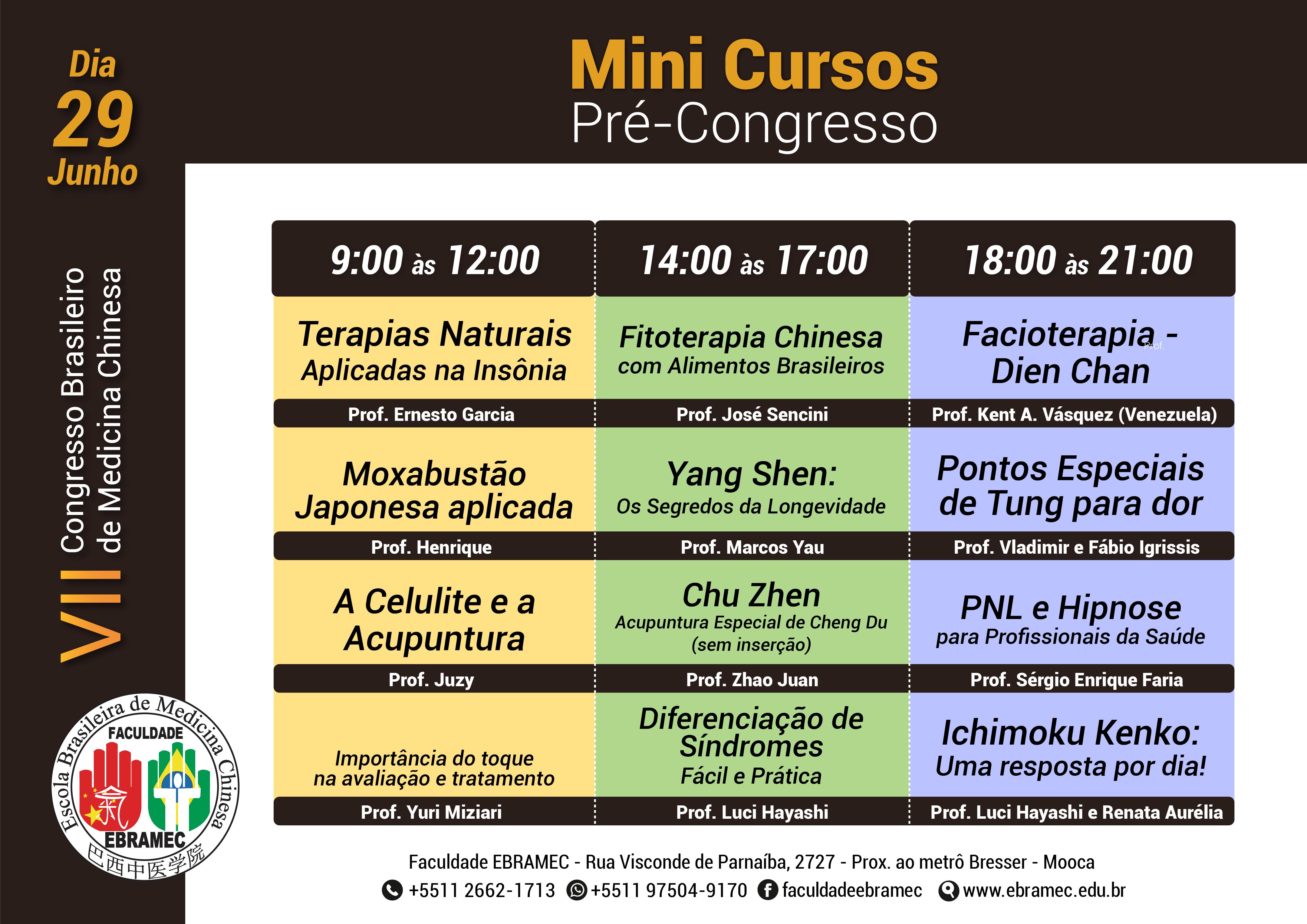 Mini Cursos | VII Congresso de Medicina Chinesa