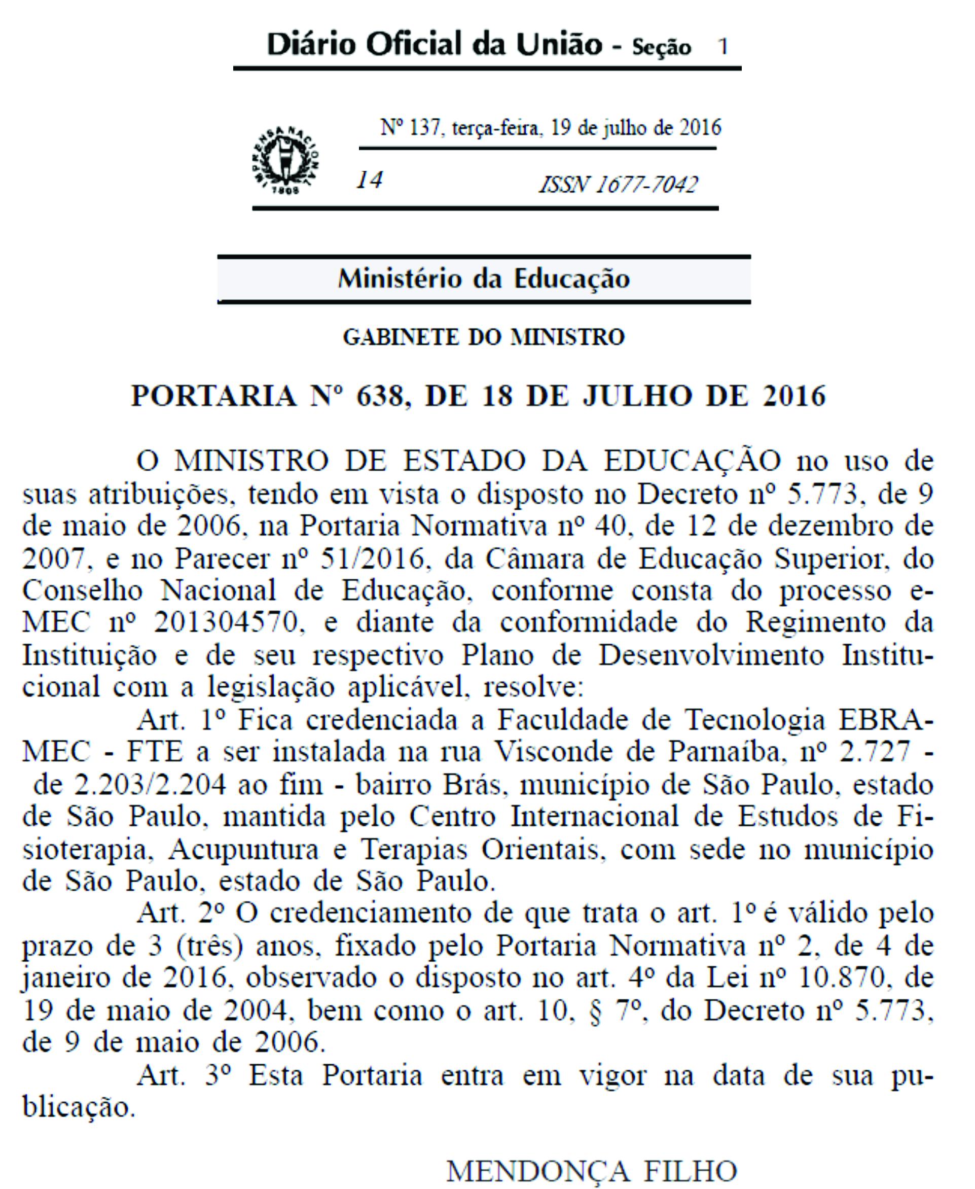 Credenciamento-Faculdade Portarias
